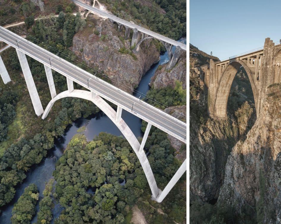 viaducto que pasa por encima del rio Ulla